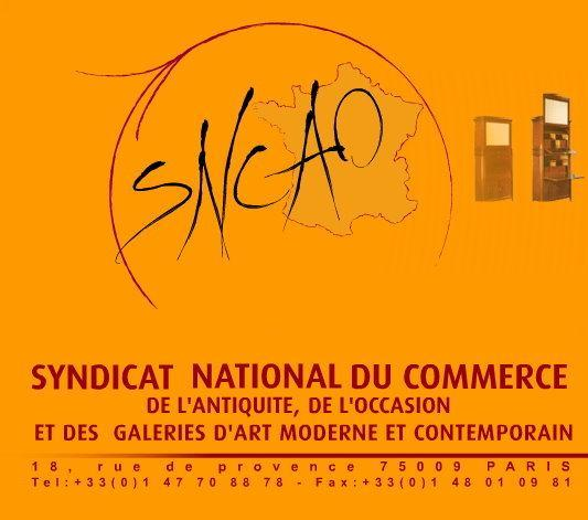 foire aux antiquites SNCAO - SYNDICAT NATIONAL DU COMMERCE DE l\'ANTIQUIT� ET DE L\'OCCASION